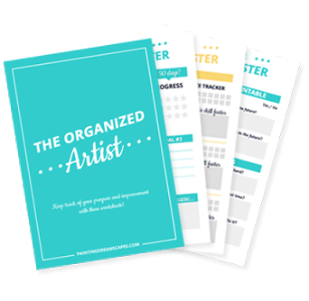 The Organized Artist Printable Worksheets - Work smart Improve Faster - Painting Dreamscapes preview