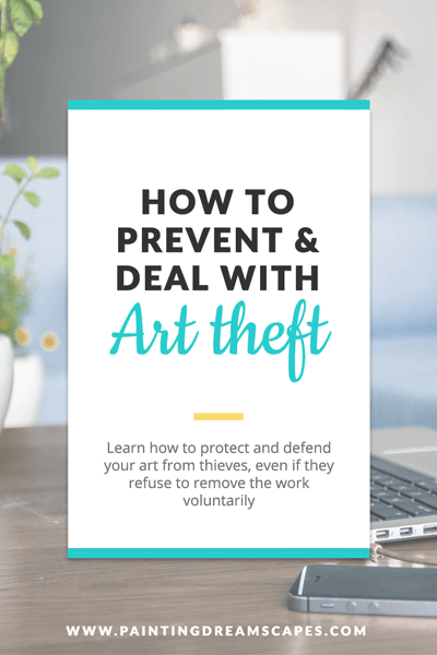 How to defend your art from art thieves even if they refuse to remove the stolen work