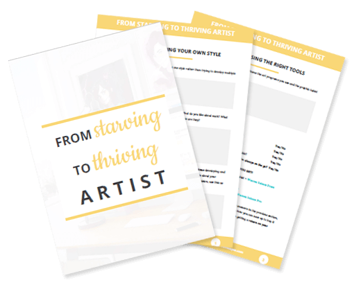 starving to thriving artist workbook preview