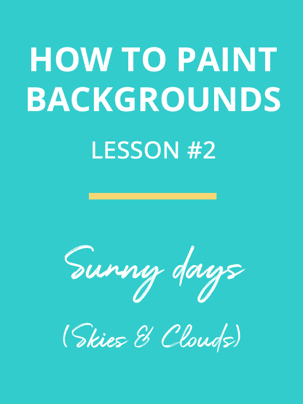 how to paint backgrounds - sunny summer sky - painting dreamscapes video tutorial preview