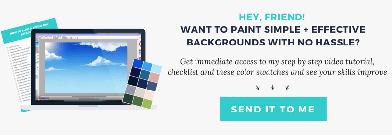 painting backgrounds video tutorial kit - how to paint a sky download preview
