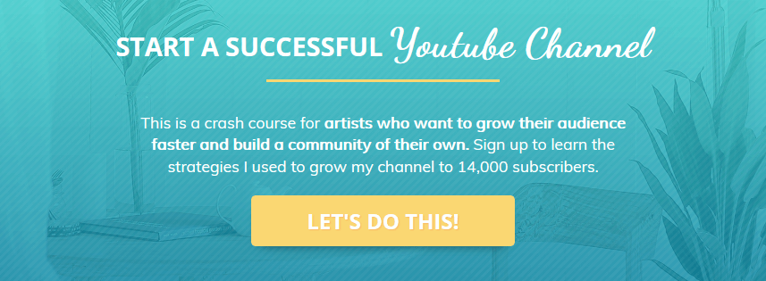 Start a successful youtube channel training series promotional banner - Painting Dreamscapes