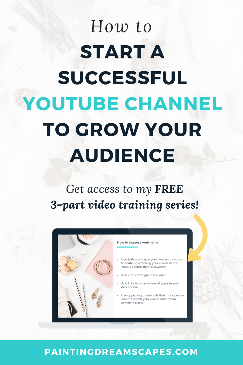 How to start a successful youtube channel to grow your audience - FREE 3 part video training series