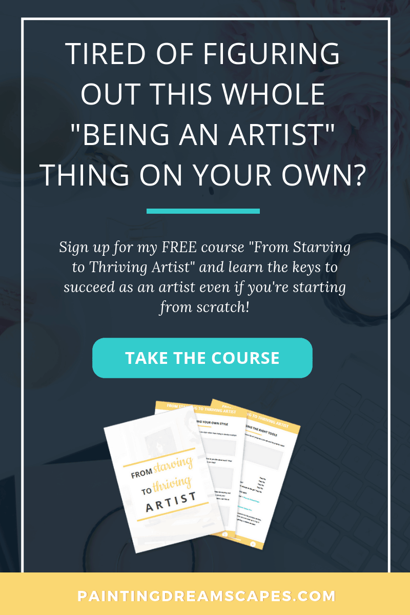 Starving to thriving artist course for artists - PaintingDreamscapes 2