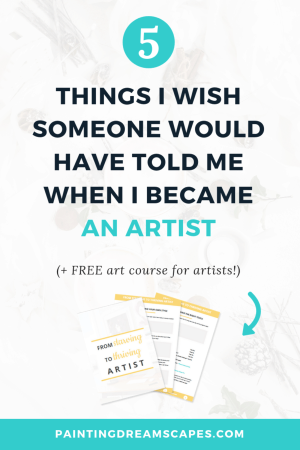 5 tips for emerging artists I wish someone would have told me when I became an artist blog post cover