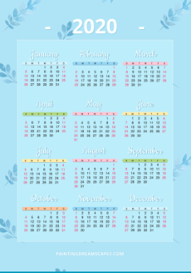 year at a glance calendar view