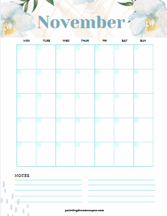 November Monthly Spread