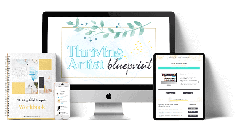 Thriving artist blueprint mockup preview