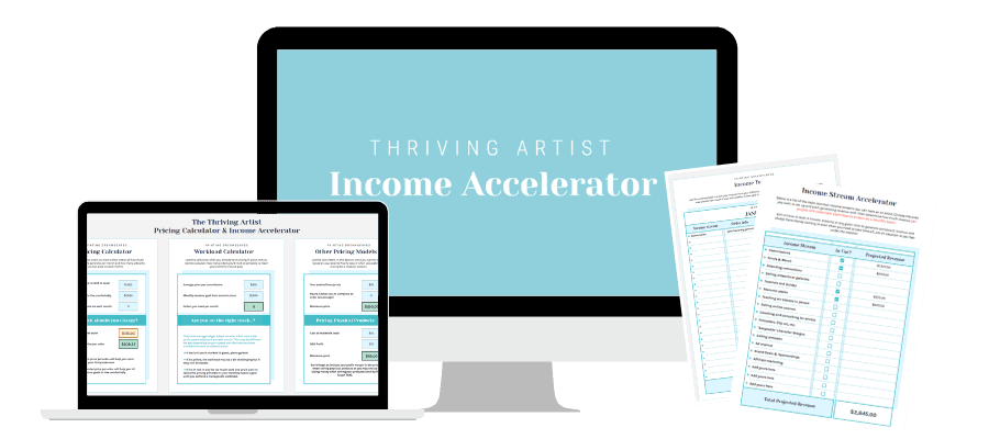 Thriving Artist Income Accelerator Mockup
