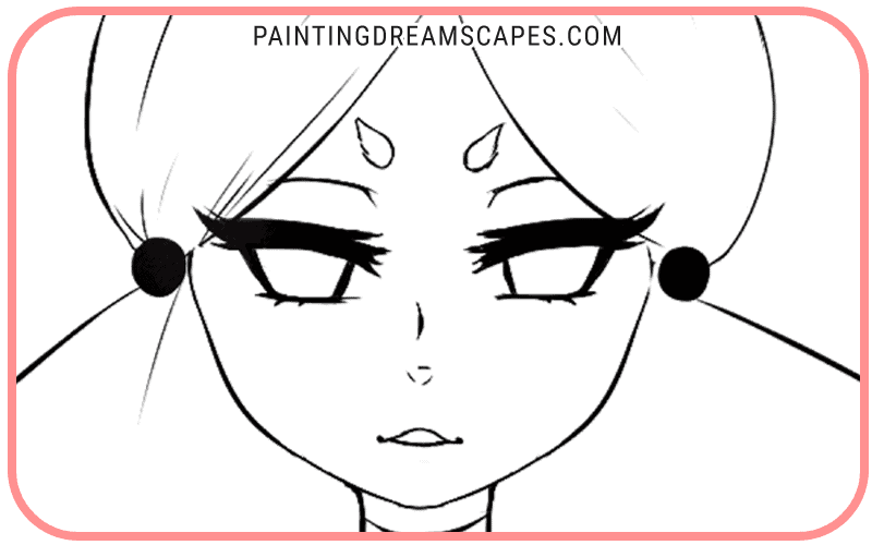 anime eyes without color