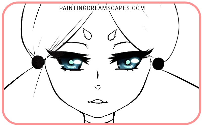 anime eyes finished including an extra reflection on the pupil