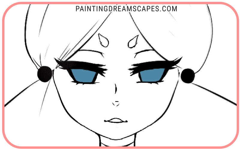 anime eyes with base color