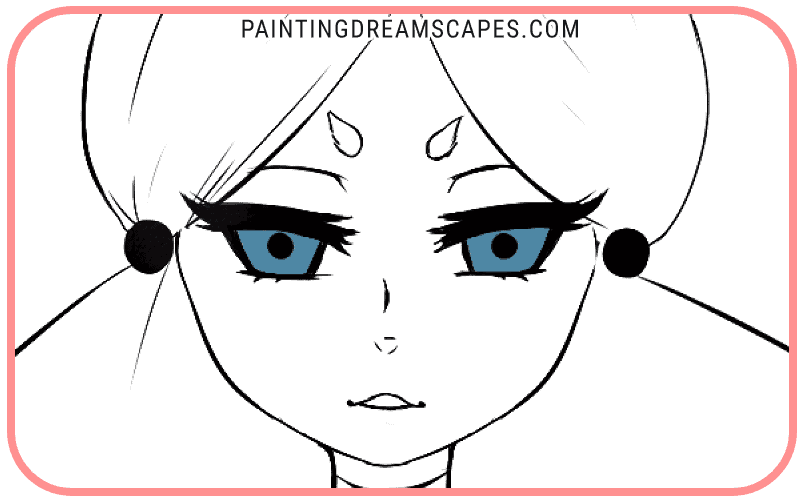 anime eyes with pupils added